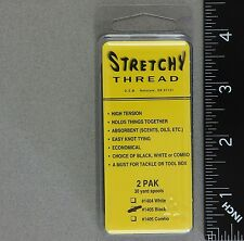 Stretchy Thread 2 Spool Pack Color: Black for Bait Wrap Spawn Tying
