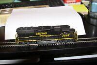 HO scale Con-Cor # 1013 EMD GP-40 Diesel Locomotive USED Gateway Western 3008CAB