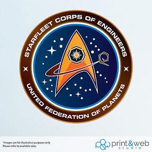 Star Trek Federation Wall Decal Logo Van Laptop Vinyl Sticker Starfleet