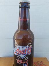 """HUGE Budweiser ANAHEIM ANGELS 15"""" Tall Glass Beer Bottle King Pitcher  RARE  MLB"""