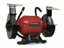 2 Amp 6 in Bench Grinder With Twin LED Work Lights 3450rpm General International