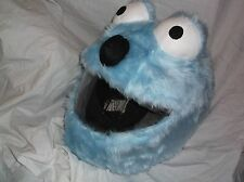 MOTORBIKE FUNNY HEEDS CRAZY CRASH HELMET COVERS MOTORCYCLE  COVER L BLUE  ELMO
