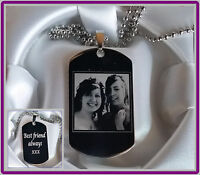 Engraved Picture on Military Dog Tags, Necklace For Him, Father's Day Dog Tag