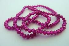 120 pce Painted Hot Pink Faceted Abacus Glass Spacer Beads 4mm x 3mm