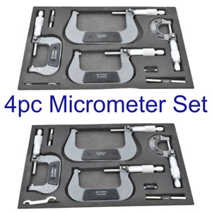 Quality 4pc Micrometer Set 0-100mm Building Engineering Measuring  TZ MS057