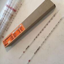 PIPETTA di vetro 0.5 - 5 ML GRADUATO Long-pipettaggio laboratorio Aquatics Pack 24