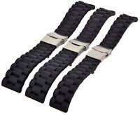 Silikon Divers Strap 20-22-24mm Taucher Uhrenarmband Faltschließe Uhren Armband