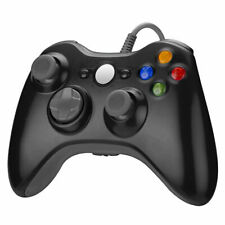 1/2x For Wired XBOX 360 USB Remote Video Game Controller Pad PC Windows Black