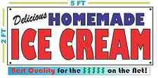 HOMEMADE ICE CREAM BANNER Sign NEW 2x5
