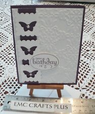 HAPPY BIRTHDAY  BUTTERFLY HANDMADE GREETING CARD #F0541 STAMPIN UP AND MORE...