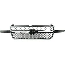 Grille 03 06 For Chevy Silverado 15002500 Hd Chrblack Insert Witho Side Mldgs Fits More Than One Vehicle