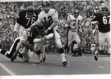 1971 9/19 Football Wire Photo,Dick Butkus Chicago Bears,Terry Bradshaw  Steelers