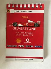 Scuderia Ferrari Press Pass 2004 Media livre très rare.