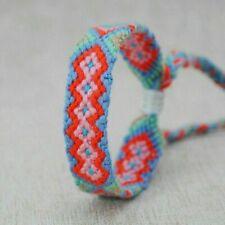 Boho Ethnic Handmade Multicolor String Woven Braided Friendship Bracelet Jewelry