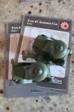 Axis & Allies Miniatures Contested Skies 42 Type 87 Armored Car UC w/Card x2