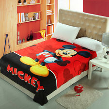 Throws Flannel Blanket Mickey Mouse Soft Silky Bedding Rug 150*200Cm/
