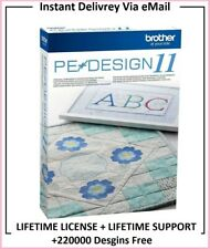 Brother PE Design 11 Embroidery Software + 220K Designs Free⭐FULL VERSION⭐