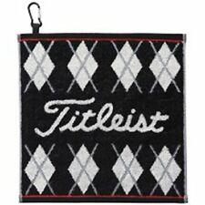 TITLEIST Golf Hand Towel Cotton AJTWH51 Black w/ Fook 34cm X 35cm Japan F/S