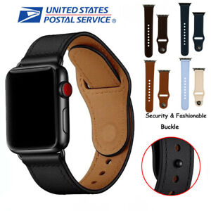 Leather Wrist Strap For Apple Watch Band 38/40mm 42/44mm Series 6 5 4 3 2 1 SE