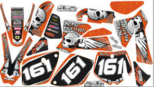 Graphics Kit Deco Stickers Decals Senge Compatible with KTM SX 65.Years 02-08