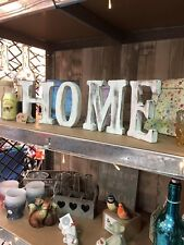 Wood Washed HOME Letters Freestanding Shabby Chic 15cm High