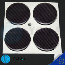 4 Stück Silikon Nabenkappen Aufkleber Carbon Look Emblem - 60 mm - NEU