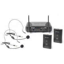 DOPPIO RADIOMICROFONO UNICA USCITA DOPPIO 2 ARCHETTO BODYPACK 2 CANALI VHF