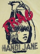 "Vintage 1980s FRAG ""Hanoi"" Jane Fonda Vietnam Screen Stars Yellow Shirt Size M/L"