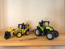 LEGO Technic Lot - 9393 Tractor and  42004 Mini Back Hoe