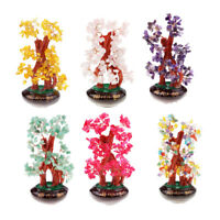 Feng Shui Money Tree Luck Rich Crystal Natural Office Home Room Decoration