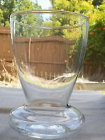 Clear Glass Vase Wide Bottom Wide Mouth Low Hourglass Hand Blown Pontil