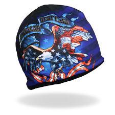 HD Sublimation Patriotic American USA Eagle Flag Biker Stocking Cap Beanie