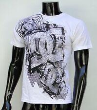 Dc shoes Usa Skateboard Co. White All Drwa Logo Mens t shirt Small