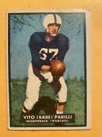 """1951 Topps Vito """"Babe"""" Parilli Rookie Card #4 - ** VG! WOW!! MUST SEE!!! **"""