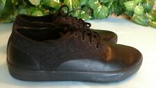 Men's 8.5 Mossimo Adam black lace-up sneakers/ casual shoes w/textile trim