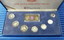 1996 Singapore Sterling Silver Proof Coin Set (1¢ - $5 Coin)