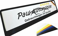 Kfz Kennzeichen bedruckt mit Wunschtext Verkaufsschilder aus Aluminium