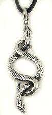 2 Schlangen Anhänger Silber 925 - Zwei Schlangenanhänger + Band