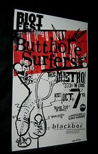 2009 RIOTFEST BUTTHOLE SURFERS Blackbox THE BOMB Gloria Vanderbilt SIGNED/DAMON