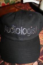 Audiologist Cap in Swarovski crystals BLACK manuscript