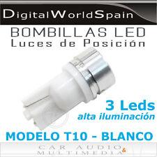 BOMBILLAS T10 DE 3 LEDS DE 3W POSICION E INTERIOR.ENVIO GRATUITO DESDE ESPAÑA
