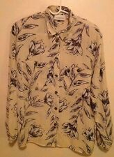Liz Claiborne Collection Polyester Long Sleeve Blouse with Front Pockets Size 8