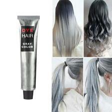 100ml Unisex DIY Fashion Grannyhair Gray Silver Color Super Dye Hair Cream