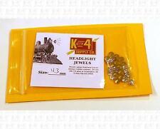 K4 HO Parts 4.3 Mm 0.17 Inch Marker Lamp Headlight Crystal Clear Jewel Lenses