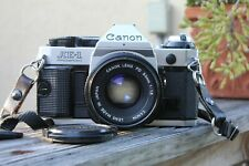 Canon AE-1 Program 35mm SLR Film Camera with Canon FD 50mm F1.8 Lens