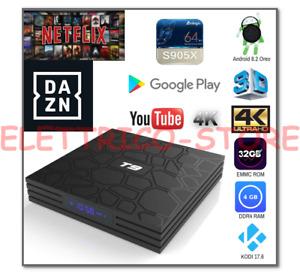 ANDROID BOX SMART TV T9 PRO 8.1 905X 4GB RAM 32GB 4K 5 WIFI