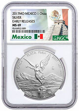 2017-Mo Mexico 1 oz Silver Libertad NGC MS69 ER Exclusive Label SKU47089