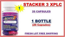 Stacker 3 XPLC Herbal Dietary Supplement (No Ephedra) 20 Capsules Exp. 08/2019