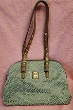 Tommy Hilfiger Women's Signature Logo Satchel Handbag Brown. EUC