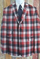 NWT $950 Brooks Brothers Black Fleece Plaid Sport Coat Jacket BB3 42 Regular